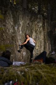 Einfacher Boulder, trotzdem super zu klettern